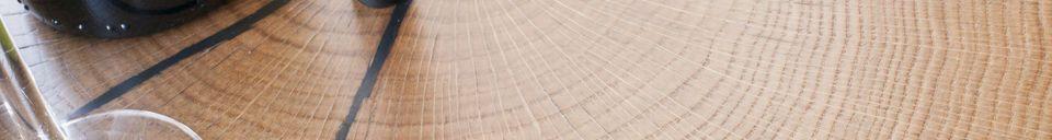 Benadrukte materialen Xylème draagbare tafel met handvat