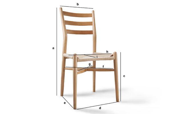 Productafmetingen Ystad houten stoel