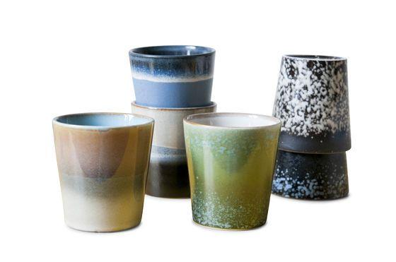 Zes Ceramix koffiekopjes Productfoto