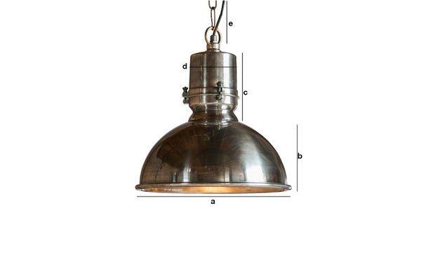 Productafmetingen Zilveren hanglamp Lynce