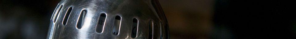 Benadrukte materialen Zilveren hanglamp Olonne