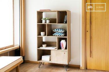Zurich houten boekenkast