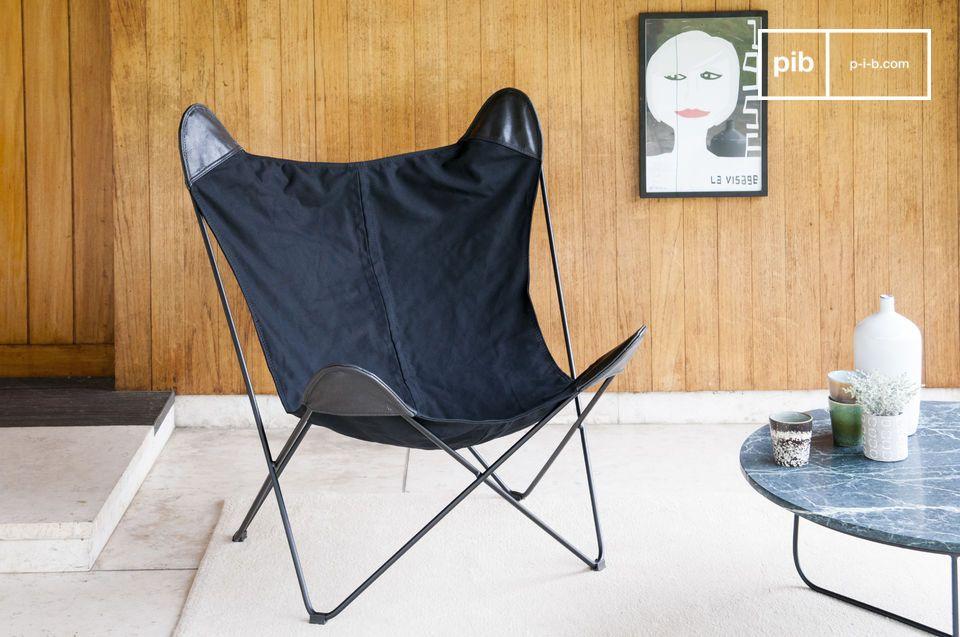 Zwart Colina canvas fauteuil