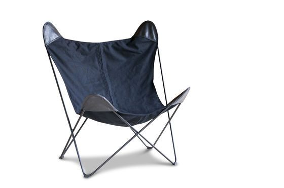 Zwart Colina canvas fauteuil Productfoto