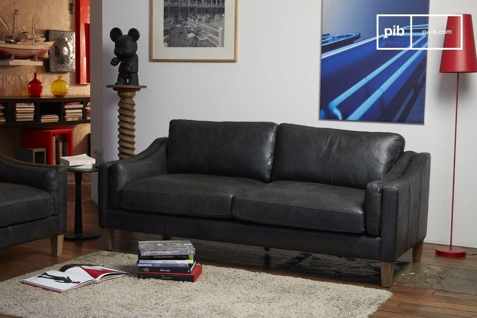 Kwaliteitsleder, uitzonderlijk comfort, voor een gemakkelijk te combineren sofa