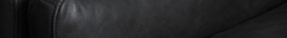 Benadrukte materialen Zwart leren Heidsieck 3-zitsbank