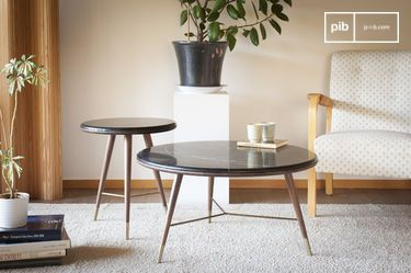 Zwart marmeren salontafel Sivärt