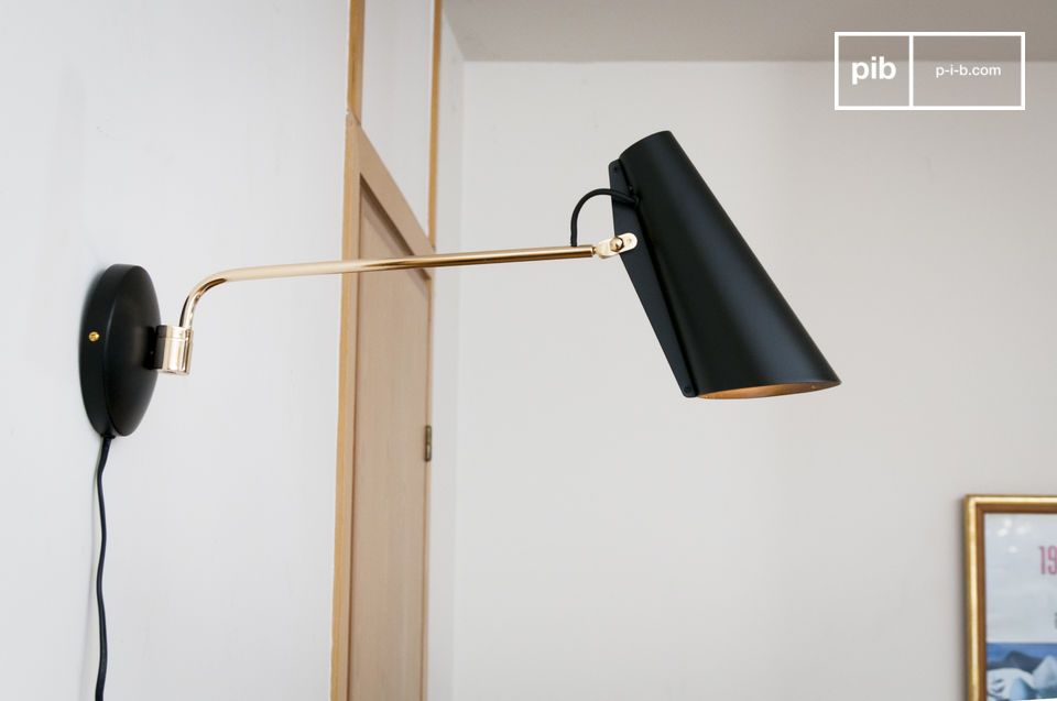 Zwarte Birdy wandlamp
