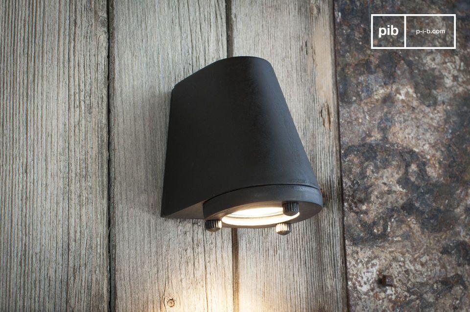 Zwarte buitenwandlamp Aix
