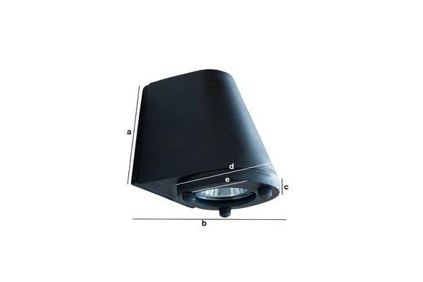 Productafmetingen Zwarte buitenwandlamp Aix