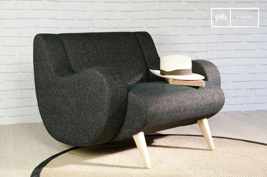 Zwarte Geneva fauteuil