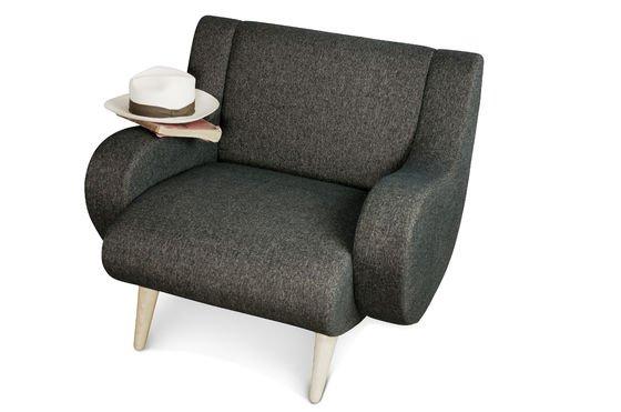 Zwarte Geneva fauteuil Productfoto