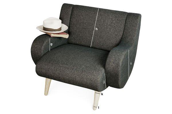 Productafmetingen Zwarte Geneva fauteuil