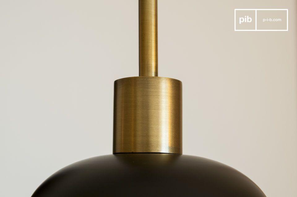 Een hanglamp met grafisch en vintage design