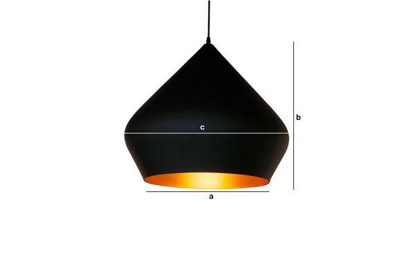 Productafmetingen Zwarte hanglamp Liselotte