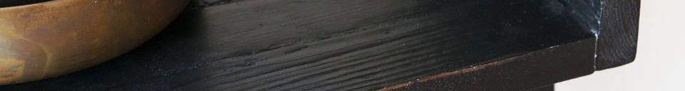 Benadrukte materialen Zwarte houten boekenkast Groot formaat