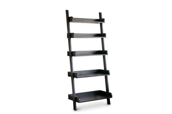 Zwarte houten boekenkast Groot formaat Productfoto