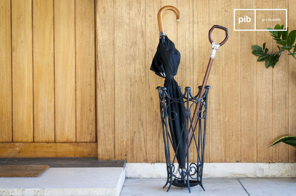 Zwarte ijzeren parapluhouder Konz