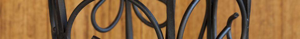 Benadrukte materialen Zwarte ijzeren parapluhouder Konz