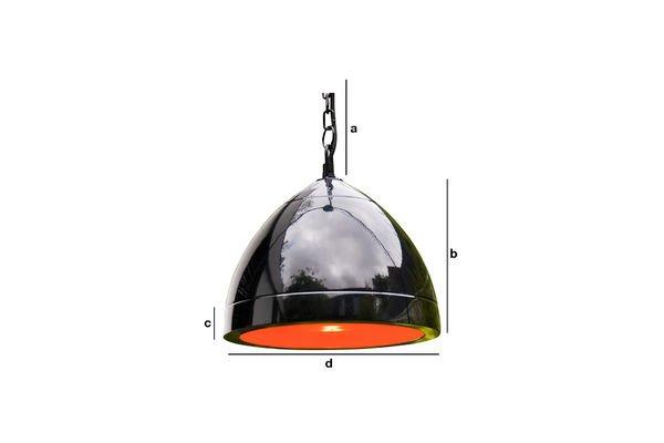 Productafmetingen Zwarte Këpsta hanglamp