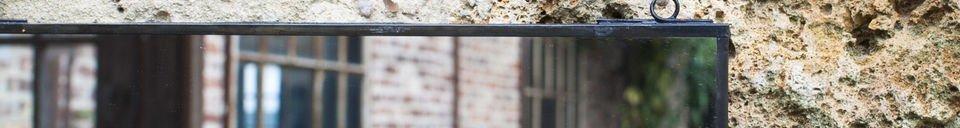 Benadrukte materialen Zwarte Solliès spiegel