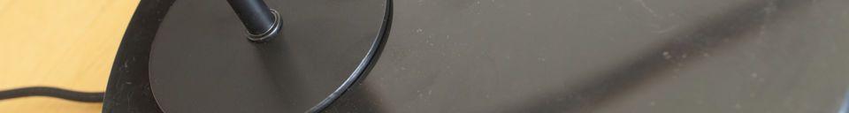 Benadrukte materialen Zwarte tafellamp Mogens